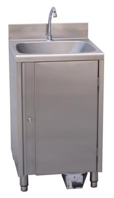 washbasin in stainless steel absence water