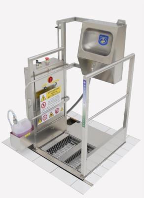 hygiene corridor sole washer hand washing system stainless steel ertik